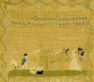 Needlework Sampler by Elizabeth Crowninshield