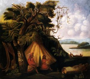 Indian Encampment by American School