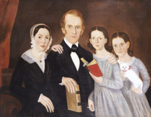 A Portrait Of A Family. Massachusetts by American School