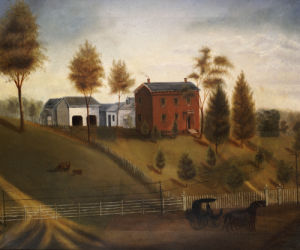 Farmstead Scene by American School