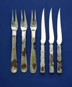 Three Forks & Three Knives by Tiffany Studios