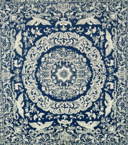 Jacquard Coverlet, American, 1847 by Christie's Images