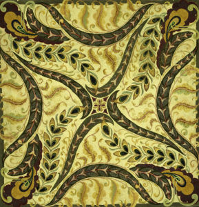 A Paisley Hooked Cotton And Wool Rug. American by Christie's Images