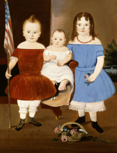 Portrait Of Hattie Elizabeth, Ellis And Eva Flye by William Matthews Prior