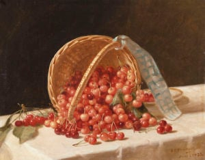 A Basket Of Cherries, 1853 by John F. Francis