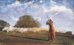 The Young Shepherdess by Winslow Homer