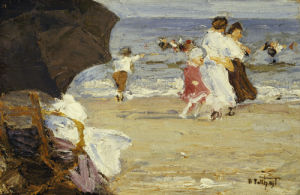The Beach Umbrella by Edward Henry Potthast