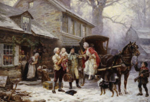 Home For Christmas, 1784 by Jean Louis Gerome Ferris