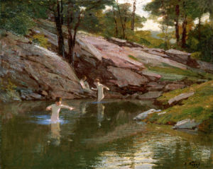 The Swimming Hole by Edward Henry Potthast