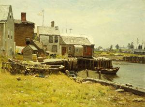 Fishing Pier by John Joseph Enneking