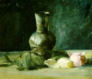 Vase And Roses by Julian Alden Weir