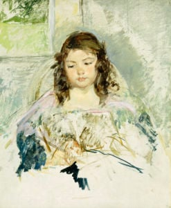 Sketch For Francois In A Round-Backed Chair, Reading by Mary Cassatt