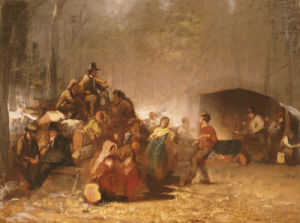 The Party In The Maple Sugar Camp by Eastman Johnson
