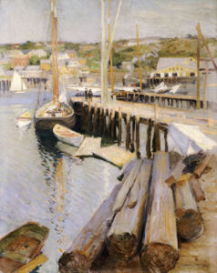 Fish Wharves - Gloucester by Willard Leroy Metcalf