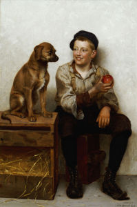 Teasing The Pup by John George Brown