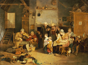 The Blind Fiddler, After Wilkie by John Lewis Krimmel