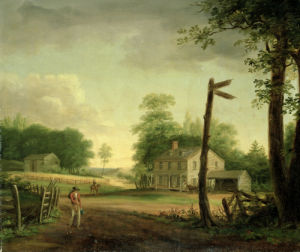 Wayside Inn On Route To Philadelphia by Thomas Birch