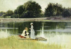 A Pleasant Afternoon by Alfred Thompson Bricher