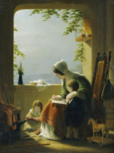 Mothers Lessons, Amalfi by Robert Walter Weir