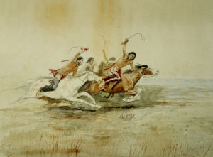 Indian Horse Race No.4 by Charles Marion Russell