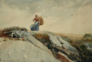 Down The Cliff by Winslow Homer