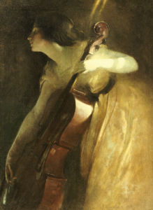 A Ray Of Sunlight (The Cellist), 1898. by John White Alexander