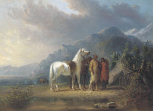 Sioux Camp by Alfred Jacob Miller