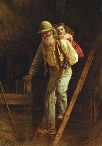 Pickaback, 1875 by Thomas Waterman Wood