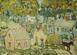 A New England Village by Maurice Prendergast