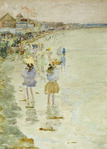 Crescent Beach, 1896. by Maurice Prendergast