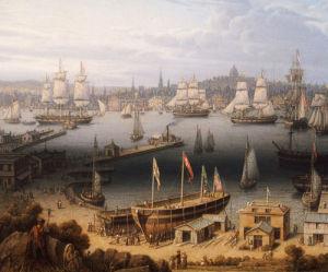 Boston Harbor, 1843. by Robert Salmon