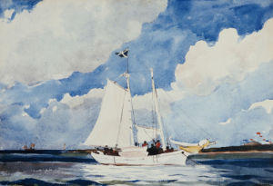 Fishing Schooner, Nassau, 1898 by Winslow Homer