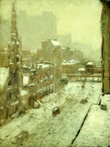 Winter In The City by Paul Cornoyer