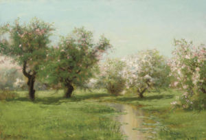 The Orchard In Spring by Arthur Parton