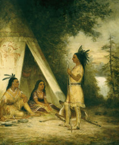 The Betrothal Of Hiawatha by American School