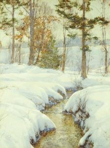 Snowladen Brook by Walter Launt Palmer