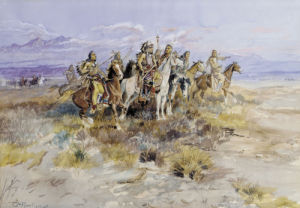 Indian Scouting Party, 1897 by Charles Marion Russell