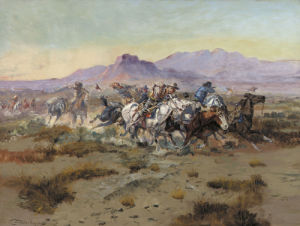 The Attack, 1900 by Charles Marion Russell