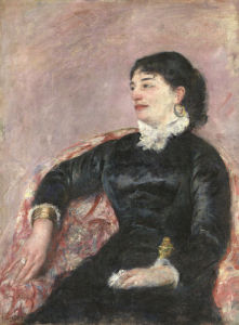 Portrait Of An Italian Lady by Mary Cassatt