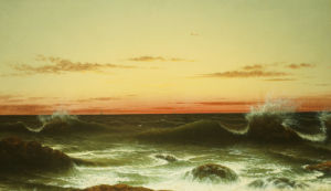 Sunset, 1861. by Martin Johnson Heade
