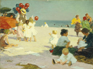 On The Beach by Edward Henry Potthast