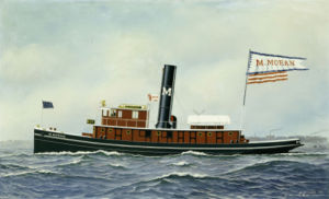 M. Moran Tug Boa, 1901 by Antonio Jacobsen