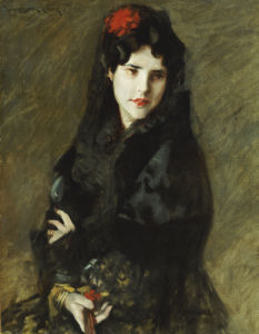 Mrs. Chase In Spanish Costume by William Merritt Chase