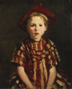 Little Girl In Red Stripes, 1910. by Robert Henri