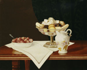 Still Life With Sweets And Strawberries, 1903 by George Cope
