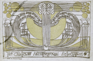 Conversazione Programme', Designed For The Glasgow Architectural Association, 1894. by Charles Rennie Mackintosh