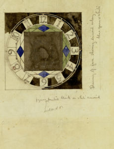 Design For Clock Face, 1917, For W.J. Bassett-Lowke, Esq. by Charles Rennie Mackintosh