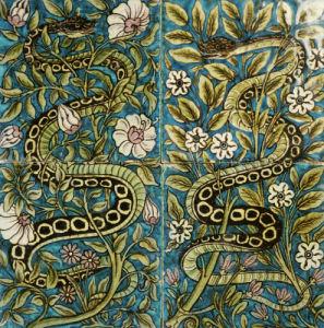 A Fine Four-Tile Panel by William de Morgan