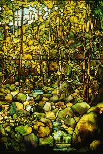 Woodland Scene Window by Tiffany Studios