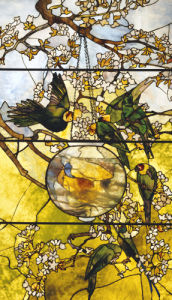 Parakeet Window by Tiffany Studios